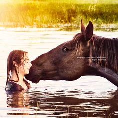 Girl Horse Love -Happiness Joy -Summer Water -Farm & Ranch Home Decor -Wall Art -Fine Art Print -Vet Senior Pictures Water, Horse Senior Pictures, Horse Photos, Senior Photos, Equine Photography, Animal Photography, Digital Photography, Horse World, Horse Love