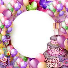 Feliz cumpleaños capítulo transparente con la torta