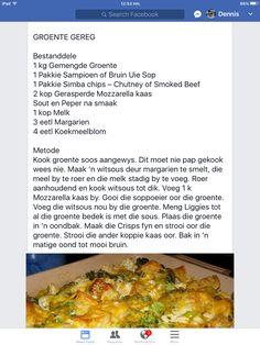 Braai Recipes, Vegetable Recipes, Vegetable Casserole, Veggie Bake, Baked Vegetables, Veggies, Cooking Measurements, Vegetable Dishes, Vegetable Tart