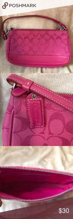 Small Coach Handbag - Hot Pink Small handbag.  Great for going out.  Even appropriate for the tween girl in your life. Coach Bags Mini Bags