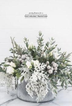 simple winter flower arrangement