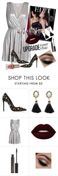 """""""Party"""" by kiduthapsari ❤ liked on Polyvore featuring Dune Black, BB Dakota, Lime Crime, NYX and Barry M"""
