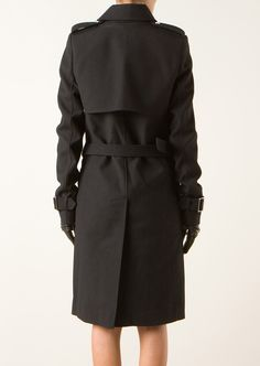 Anthony Vaccarello Coats :: Anthony Vaccarello siyah yün ceket | Montaigne Pazar