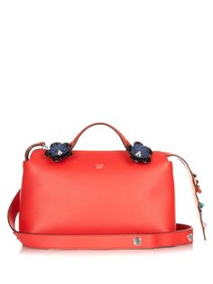 FENDI By The Way Small Flower-Appliqué Cross-Body Bag.  fendi   3a5780f159162