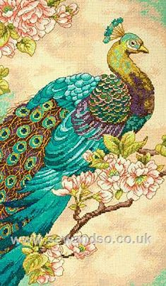 Indian Peacock cross-stitch