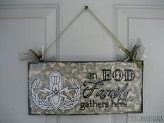 Hand Painted EOD wood sign with SR EOD Badge by CreationsbyGena