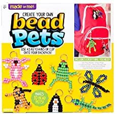 Made By Me Create Your Own Bead Pets by Horizon Group Usa, Includes Over 600 Pony Beads, 6 Key Rings, Storage Box & Much Kids Crafts, Crafts For Kids To Make, Tree Crafts, Fall Crafts, Halloween Crafts, Christmas Crafts, How To Make, Zoo Crafts, Christmas Decorations