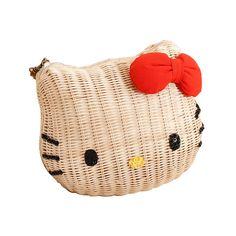 ebeebb7129 Hello Kitty Women Rattan Handbag