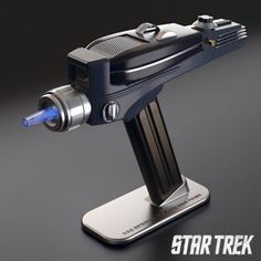 These are the escapades of the Star Trek: Original Series Phaser Universal Remote Control. Its mission: to explore strange new channels, to seek out old Star Trek reruns and appalling new reality TV shows, to boldly watch what no man has watched before. Star Trek Phaser, Star Trek Original Series, Universal Remote Control, Tv Remote Controls, Reality Tv Shows, Tecno, Tech Gifts, Cool Gadgets, Geek Gadgets