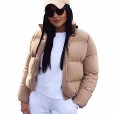 Jacket Down Jacket Overseas ARISTOCRATIC Women's Puffer, Puffer Jackets, Puffer Coats, Women's Coats, Bubble, Coats For Women, Clothes For Women, Basic Clothes, Winter Shorts