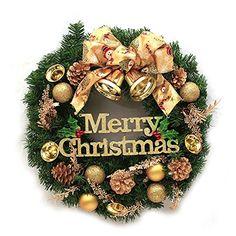 Christmas Wreath 30cm Decorative Wreath Door Hanging Wreath Shopping Malls Christmas Decorations * This is an Amazon Affiliate link. Click image for more details.