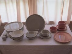 Russell Wright Steubenville Sets- Coral and Granite
