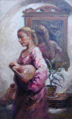 """Original Painting """"Frente al Espejo"""" by  Royo"""