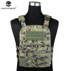 82.79$  Buy now - http://ali0hi.worldwells.pw/go.php?t=32778208043 - Emerson CP Style Lightweight AVS VEST Nylon Molle Hunting Fabric Adaptive Vest Plate Carrier Airsoft Combat Gear EM7398 AOR2 ^