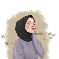 Cartoon Girl Drawing, Girl Cartoon, Cartoon Art, Cute Girl Wallpaper, Cute Wallpaper Backgrounds, Wallpaper Art, Hijab Drawing, Girly M, Islamic Cartoon