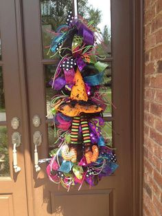 Hey, I found this really awesome Etsy listing at https://www.etsy.com/listing/202558180/halloween-witch-swag-halloween-wreath