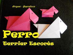 Origami - Papiroflexia. Tutorial: Perro Terrier Escocés, fácil y rápido
