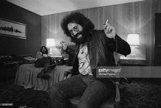 Singer-songwriter and guitarist Jerry Garcia (1942 - 1995) of American rock band The Grateful Dead, London, 4th April 1972.