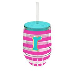 Monogram Stemless Wine Cup-R - Occasionally Made - Monogram Gifts - Great Gift Ideas for Her