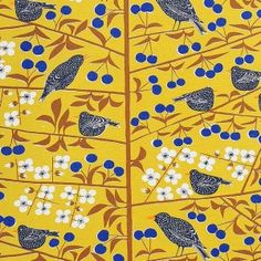 almedahls mustard scandinavian fabric
