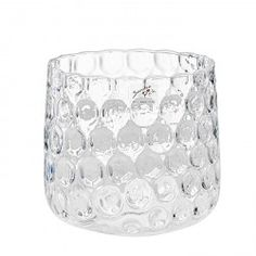 "Sandra Rich Glas Vase ""Galaxie"", klar, Ø 17,5cm, Höhe 16cm (1 Stück)"
