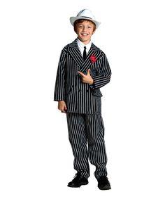 This Black & White Stripe Gangster Dress-Up Set - Kids is perfect! #zulilyfinds