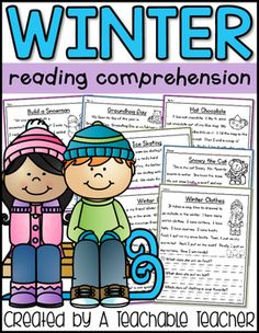 Winter reading comprehension is the perfect way to practice reading fluency and comprehension! These engaging stories and reading comprehension questions will entertain students for morning work, homework, small groups, or independent work. Reading Comprehension Posters, Reading Fluency, Comprehension Questions, Reading Passages, Kids Reading, Reading Activities, Teaching Reading, First Grade, Third Grade