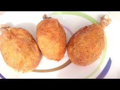 Crispy chicken legs stuffed with potatoes, incredible flavor # 129 Pollo Chicken, Chicken Legs, Crispy Chicken, Vegetarian Recipes Dinner, Vegan Dinners, Fritters, Meals For One, Relleno, Carne