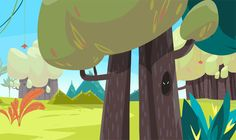Backgrounds for Qumi- Qumi animation project on Behance