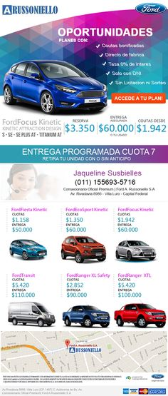 Diseño digital hoja A4 Ford Argentina