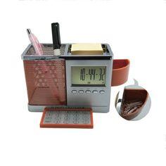 홍보용, 판촉물 대량판매용전문회사 펜꽂이 및 클립보관함,계산기(알람)
