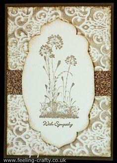 serene silhouettes card ideas   Stylish Sympathy Card using Serene Silhouettes Stamps by Stampin' Up ...