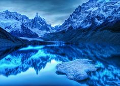 Lago Argentino de Santa Cruz, Argentina.