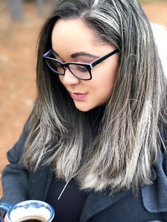Salt and pepper gray hair. Gray hair don't care. Grey Hair Don't Care, Long Gray Hair, Silver Grey Hair, Hair Highlights, Natural Highlights, Grey Hair Inspiration, Gray Hair Growing Out, Salt And Pepper Hair, Transition To Gray Hair