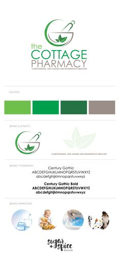 The Cottage Pharmacy logo design by Sugar + Spice Design
