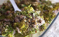 Pasticcio di broccoli e salsiccia
