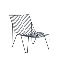 iSimar | Monaco Lounge | Metalen lounge stoel | tuinmeubilair | verkrijgbaar in veel kleuren | Spaans design | Antraciet  -  gris antracieta