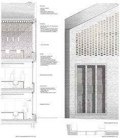 Erweiterung Rathaus   1. Preis: Details Fassade, © Bembé Dellinger https://www.competitionline.com/de/ergebnisse/152276