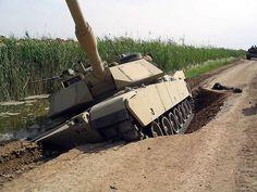 M1 Battle Tank sinking slowly . . .