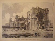 58ème année.  Démolition du Palais de l'Industrie (Expo Universelle 1855) pour les besoins de l'Exposition Universelle de 1900.