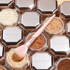 Inclusive Setting Powders - Fenty Beauty's Pro Filt'r Setting Powder Boasts Eight Translucent Shades Makeup Items, Makeup Brands, Makeup Tools, Best Makeup Products, Beauty Products, Skin Makeup, Beauty Makeup, Makeup Blush, Maquillage On Fleek