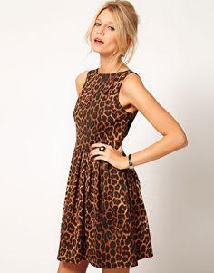 Enlarge Oasis Animal Skater Dress - ASOS Sale