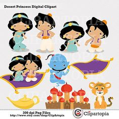 Desert Princess Digital Clipart / Princess Jasmine by ClipArtopia