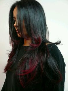 Ombre Hair Black & Red - looks kinda like mine right now.  :)