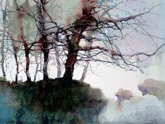 L Feng International Award Winning Artist Landscape Watercolor Trees, Watercolor Artists, Watercolor Landscape, Abstract Watercolor, Watercolour Painting, Landscape Art, Painting & Drawing, Landscape Paintings, Watercolors