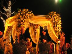 Eastern Indian Wedding Tent from downtempo at Flickr. Via Ebony C's For Ginny.