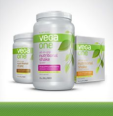VEGA One...One scoop (or less) will provide you with all the vitamins & protein that you need for the day on top of your plant-based meal! A Great product!