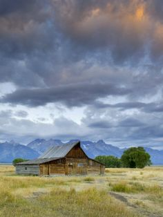 Photographic Print: Old Barn and Teton Mountain Range, Jackson Hole, Wyoming, USA by Michele Falzone : Wyoming Travel Destinations Honeymoon Backpack Backpacking Vacation Budget Off the Beaten Path Wanderlust Teton Mountains, Jackson Hole Wyoming, Grand Teton National Park, National Parks, Ansel Adams, Old Barns, Outdoor Art, Vacation Trips, Wyoming Vacation