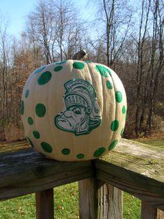 MSU Michigan State University Spartans  Collegiate #fall #pumpkin