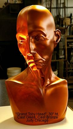 Judy Chicago_ cast glass, cast bronze